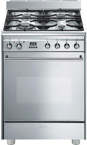 SMEG GP61X9 - Cuisinière mixte