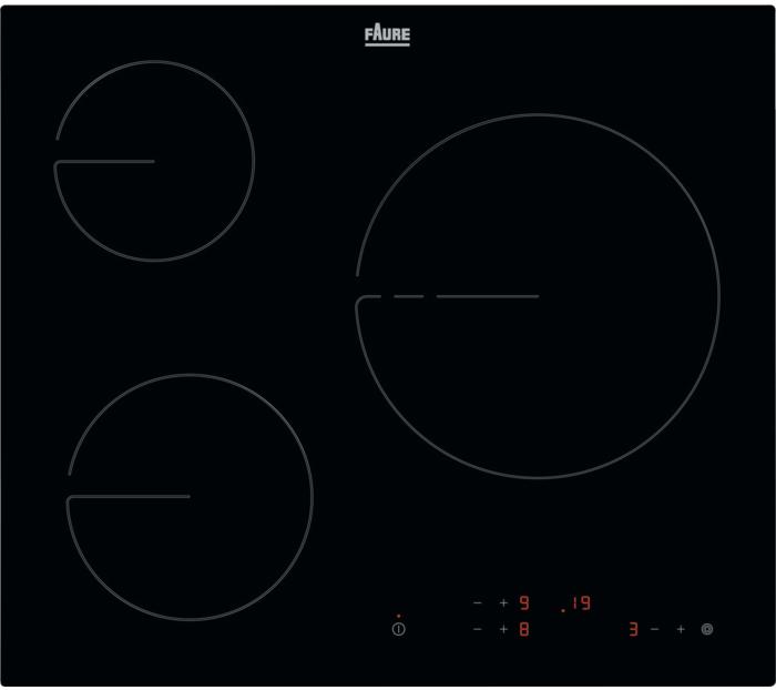 FAURE FHRN639K - Table vitrocéramique