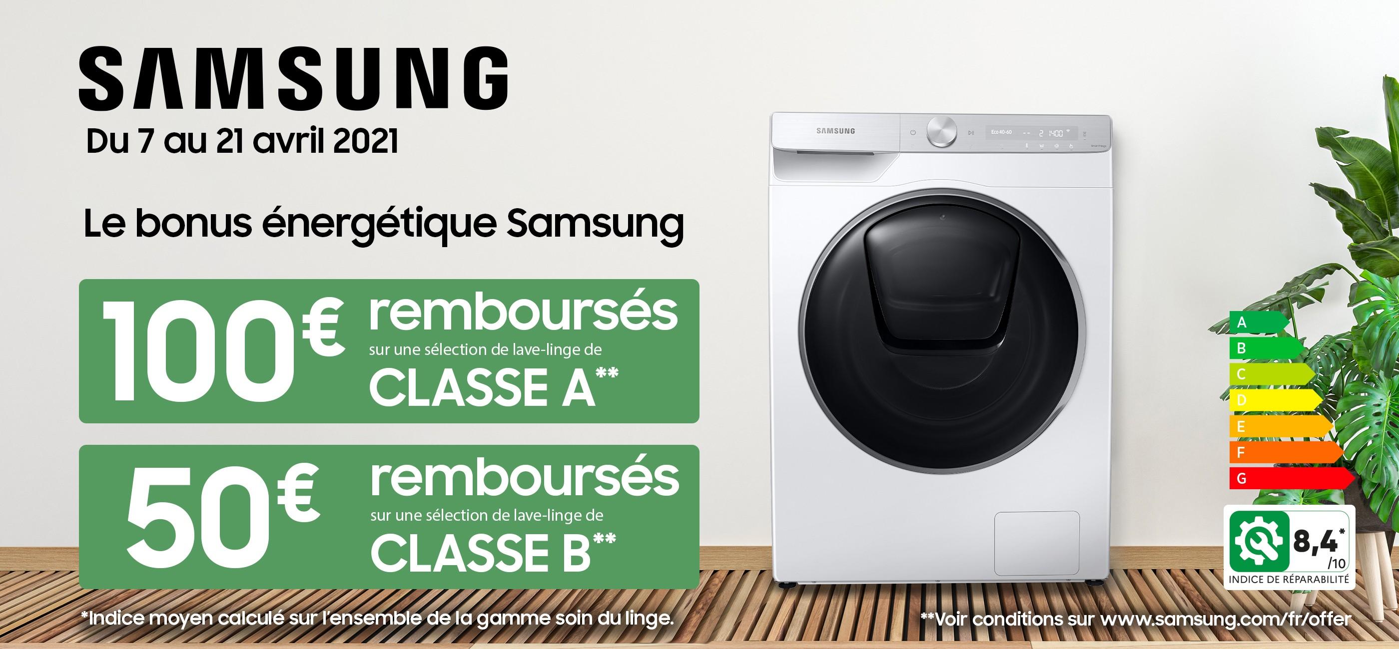 Le bonus énergétique Samsung