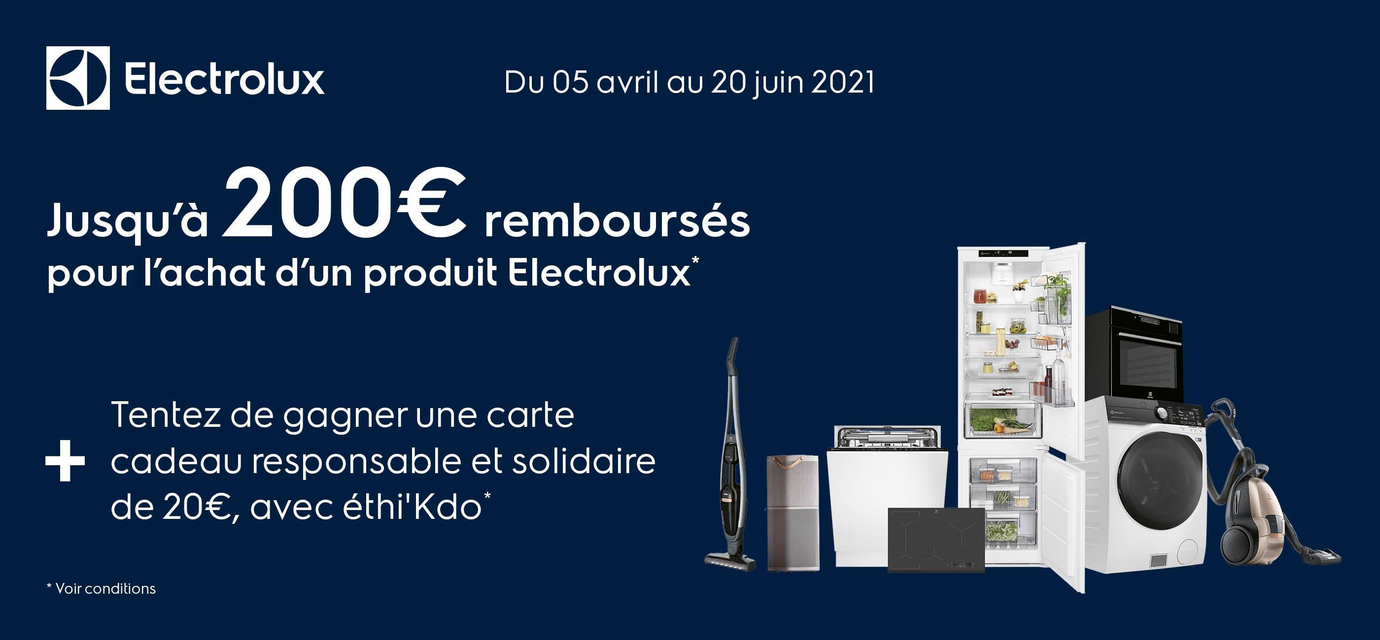 ELECTROLUX 200 € AVRIL